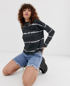 Read more about Noisy may tie dye print overisized long sleeve tee