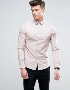 Read more about Asos skinny shirt in dusty pink - dusty pink