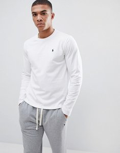 Read more about Polo ralph lauren long sleeve top in crew neck - white