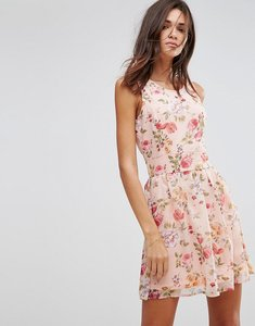 Read more about Pussycat london floral skater dress - pink
