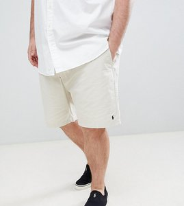 Read more about Polo ralph lauren big tall prepster drawstring chino shorts player logo in beige - new sand
