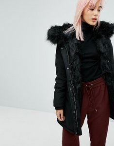Read more about New look faux fur parka - black