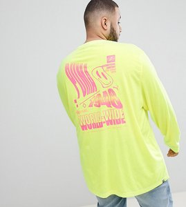 Read more about Puma plus long sleeve t-shirt with graphic print in yellow exclusive to asos - yellow