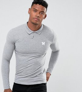 Read more about Good for nothing muscle polo shirt in grey - grey