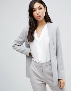 Read more about Asos premium tailored blazer with dropped lapel - light grey
