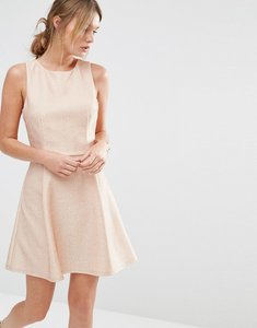Read more about Oasis metallic skater dress - pink