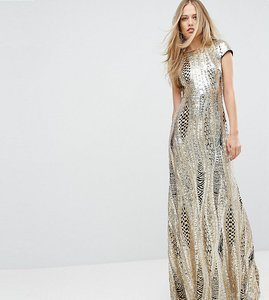 Read more about Tfnc allover sequin maxi dress - gold