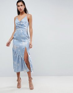 Read more about Finders floral cami midi dress - steel blue floral