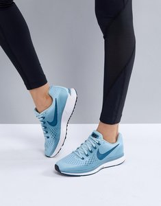 Read more about Nike running air zoom pegasus trainers in blue - ocean bliss blue for