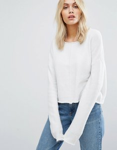 Read more about John jenn dahlia central seam cropped jumper - 100 ivory