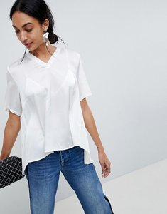 Read more about B young pleat back blouse - off white