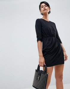 Read more about French connection elsa drape waist dress - black