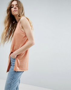 Read more about Asos sleeveless linen vest with seam detail - washed orange