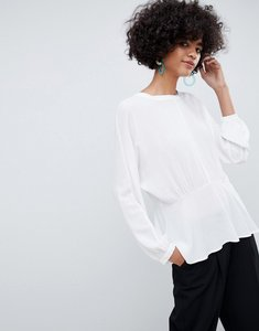 Read more about Selected femme peplum blouse - snow white
