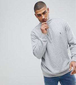 Read more about Polo ralph lauren big tall half zip sweatshirt in grey marl - grey