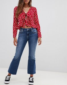 Read more about Free people rita cropped flared jeans - dark denim