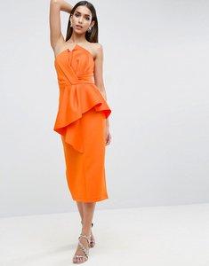 Read more about Asos red carpet scuba folded midi dress - orange