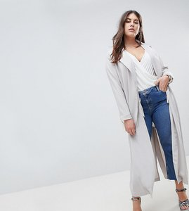 Read more about Missguided plus duster coat - grey