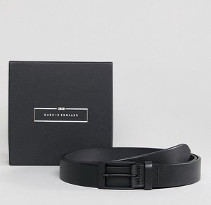 Read more about Asos plus made in england smart slim belt in black leather - black