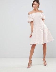 Read more about Coast danielle sparkle skater dress - off white