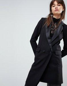 Read more about Asos premium tailored mansy longline asymmetric tux blazer - black