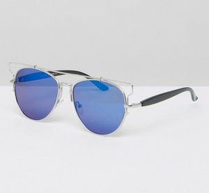 Read more about 7x aviator style sunglasses - black silver
