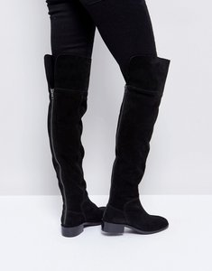 Read more about Asos kore suede over the knee boots - black suede