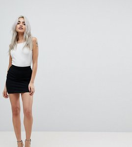 Read more about Asos petite mini skirt in jersey - black