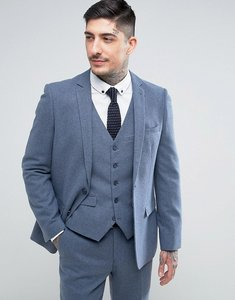 Read more about Harry brown slim fit donegal nep suit jacket - blue