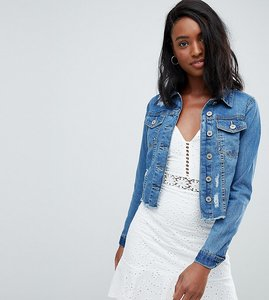 Read more about Parisian tall cropped denim jacket - blue