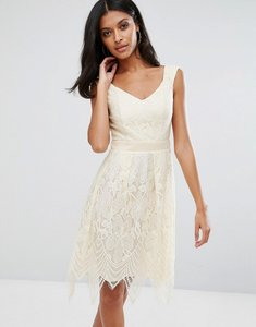 Read more about Little mistress lace prom dress - cream