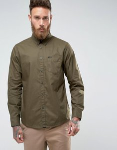 Read more about Lee regular fit plain shirt button down one pocket - military green