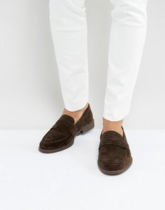 Read more about Dune penny loafers in brown suede - brown