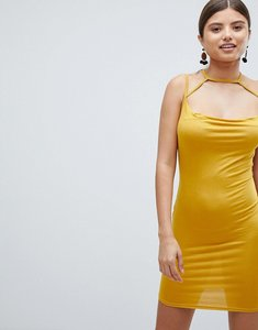 Read more about Missguided cowl neck mini dress - yellow