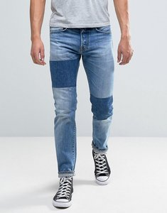 Read more about Edwin ed-80 slim tapered jeans light sheild wash dye patches - light shield wash