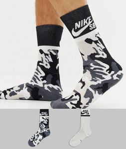 Read more about Nike sb 2 pack crew socks in black sx6848-903 - black