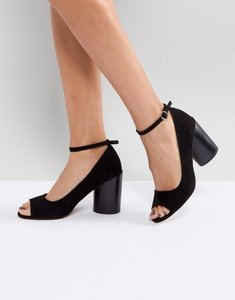 Read more about Asos ornament heeled shoes - black