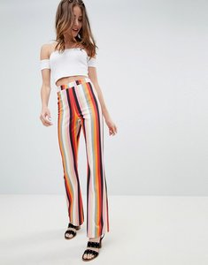 Read more about Miss selfridge wide leg trousers in stripe - multi