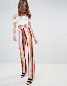 Read more about Miss selfridge wide leg trousers in stripe - multi