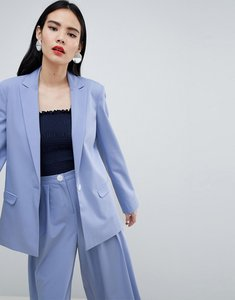 Read more about Asos design tailored blazer with contrast button - powder blue