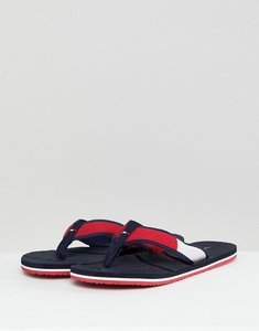 Read more about Tommy hilfiger technical flag beach flip flops in red white blue - red white blue