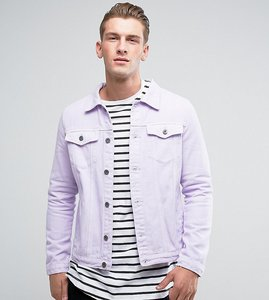 Read more about Liquor n poker plain lilac denim jacket - purple