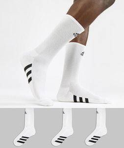 Read more about Adidas golf socks 3 pack in white cf8411 - white