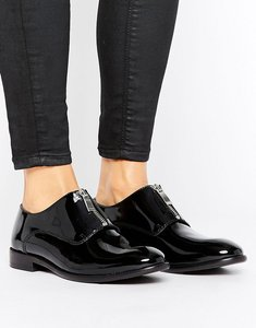 Read more about H by hudson flat zip front shoes - black leather
