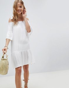 Read more about Mw by matthew williamson off shoulder beach dress in white - white