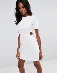Read more about Asos mini dress with cut outs - white
