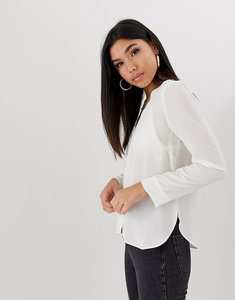 Read more about Asos v neck blouse - ivory