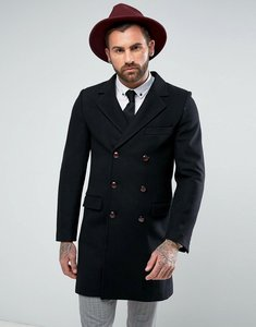 Read more about Gianni feraud premium wool blend oversized capone overcoat - black