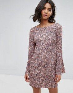 Read more about Vila printed fluted sleeve dress - multi