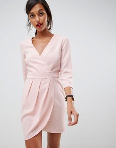 Read more about Asos design mini dress with wrap skirt - blush